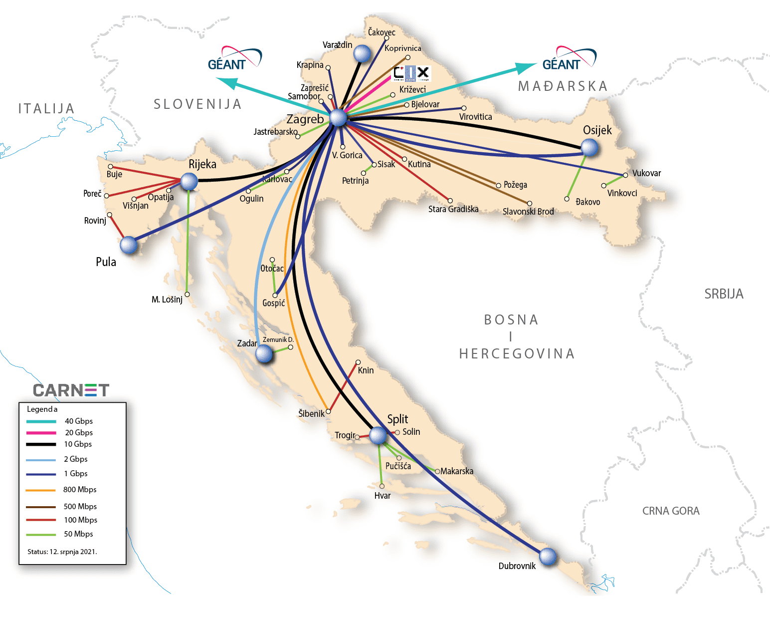 Karta CARNET mreže